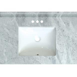 5020723 Carrara Marble 31 x 22 Natural Marble Vanity Top