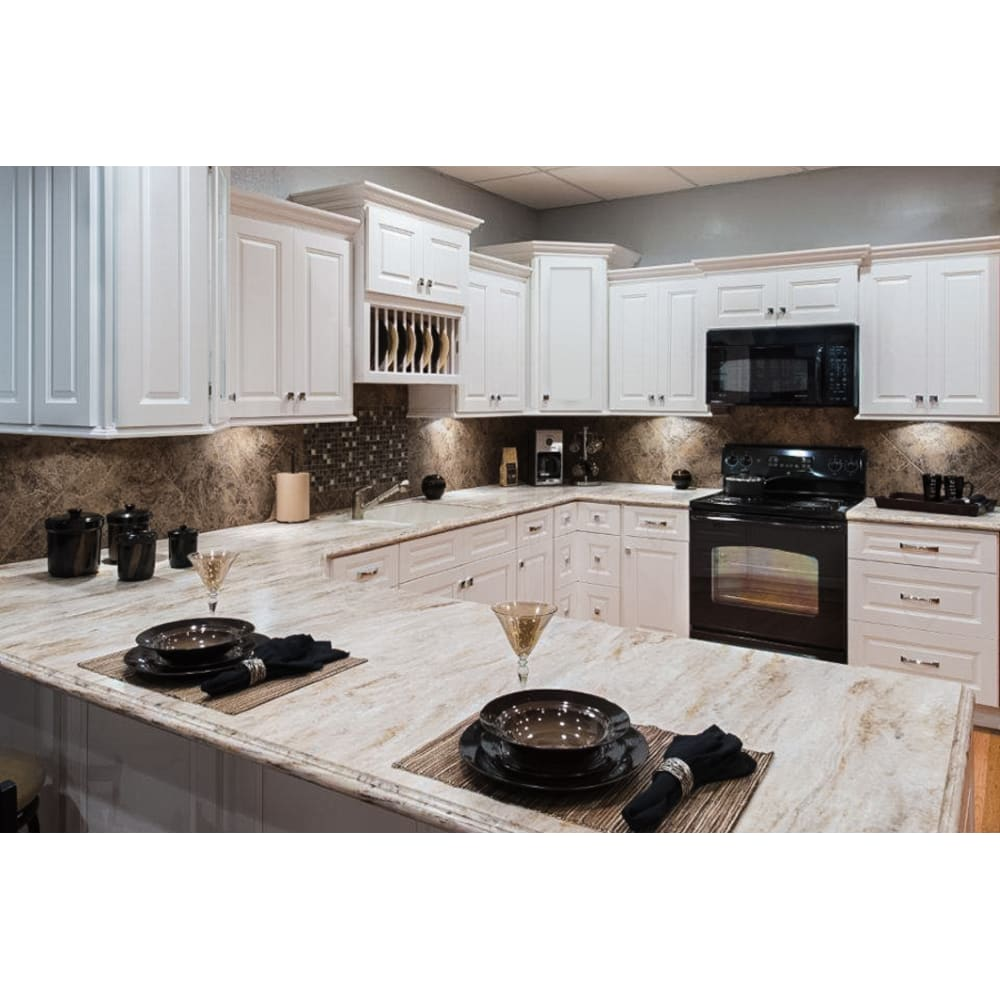 Faircrest Apsen White Kitchen Cabinets