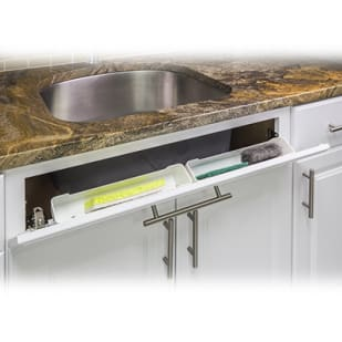 5049037 Sink Front Cabinet Storage Tipout Tray 14 wide White