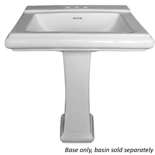 Rio White Rectangular Sink Pedestal Base