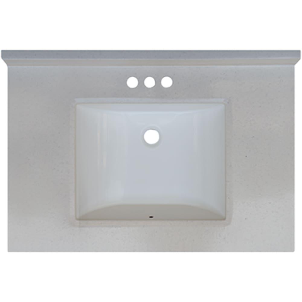 5020711 Snow Drift 31x22 Engineered Stone Granite Finish Vanity Top