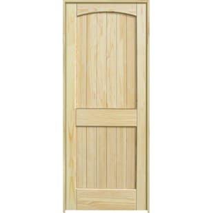 4528603 28 2 Panel Arch Top Clear Pine Interior Door Unit  Left Hand