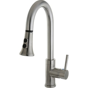 Satin Nickel Pull Down Single Lever Kitchen Faucet