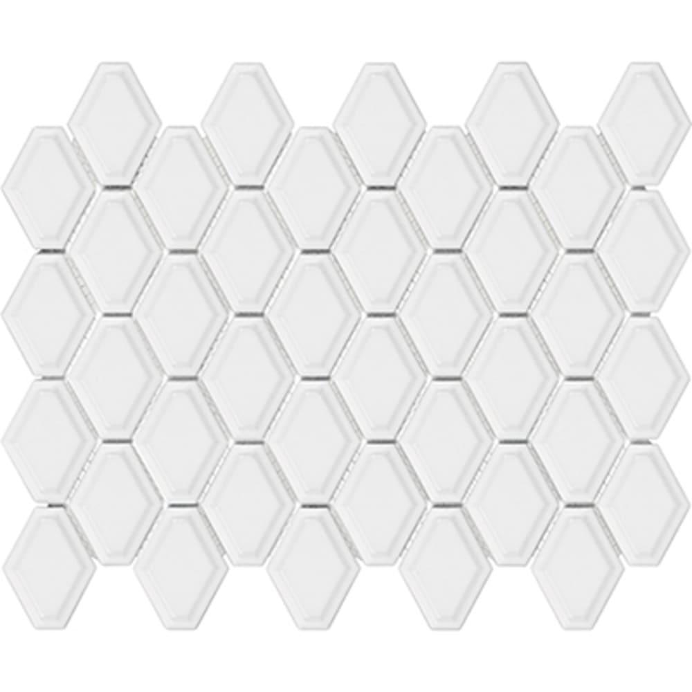 5534018 Soho Glossy White Convex Loft Mosaic Tile