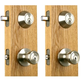 Double Combo Ball Lockset Satin Nickel