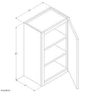 "Unfinished Oak 18""x30"" Wall Cabinet"