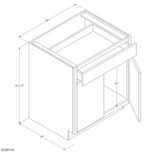 "Unfinished Oak 30"" Base Cabinet"