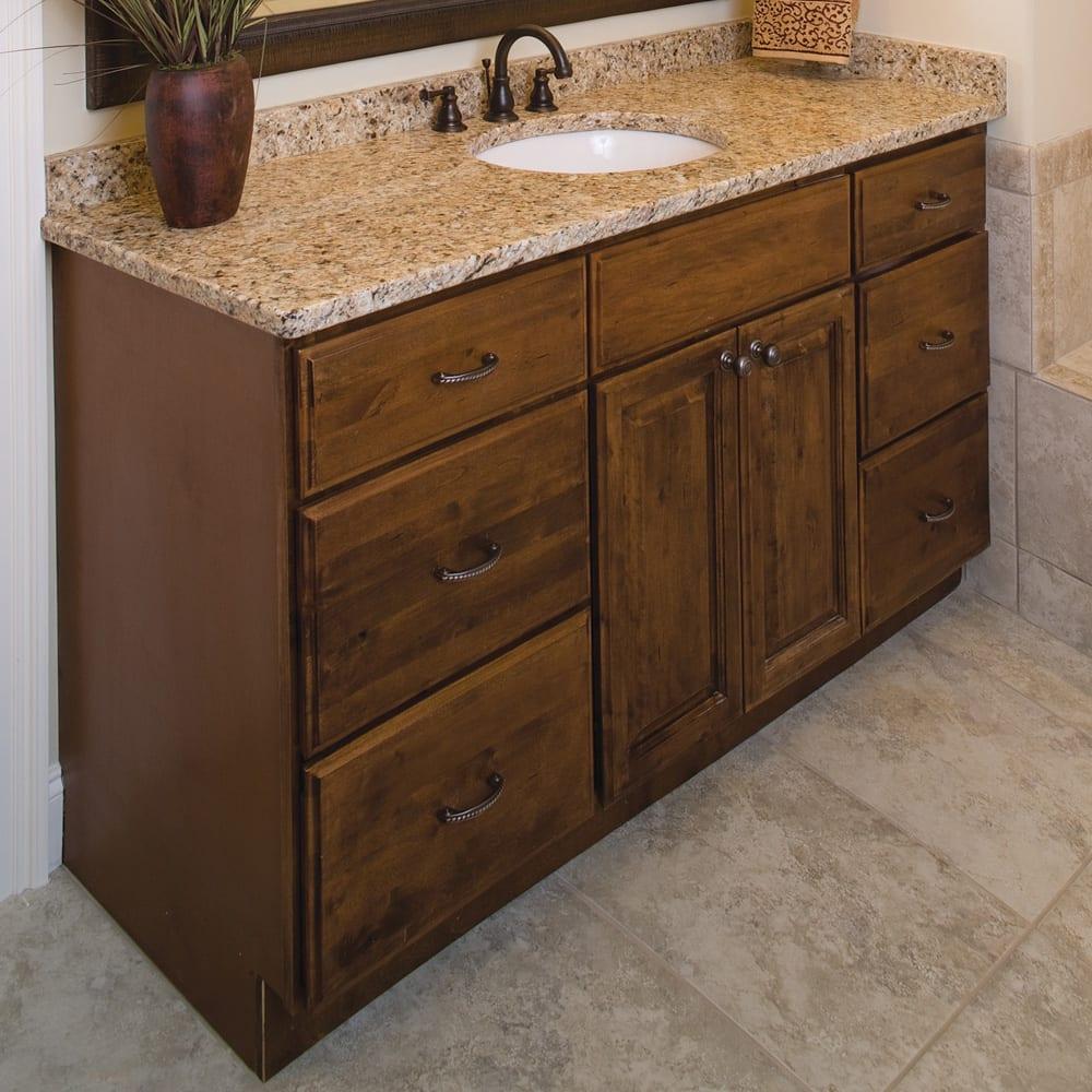 Heritage Mocha Distressed 48 Vanity, Mocha Bathroom Vanity