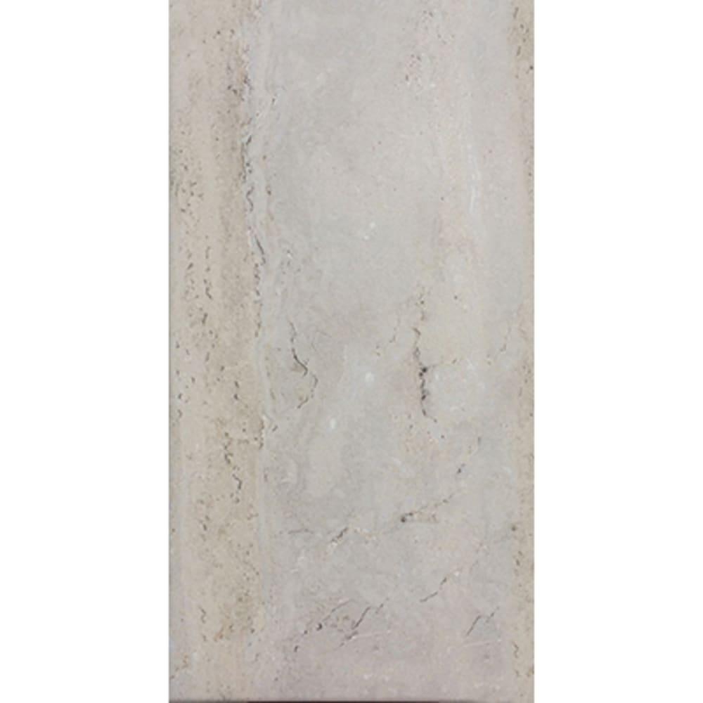 "12""x 24"" Travertino Grey Ceramic Tile"