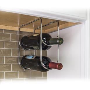5049003 Wine Bottle Cabinet Storage Rack Polished Chrome