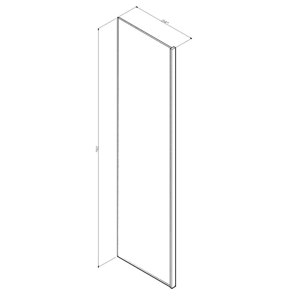 GHI Arcadia White Shaker Cabinet 7.5' Refrigerator Panel ...
