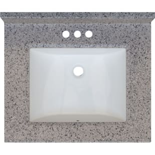 5020698 Rocky Trail 25x22 Engineered Stone Granite Finish Vanity Top