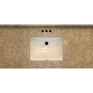 5020481 49x22 SD Golden Garnet Granite Vanity Top with Square Bowl