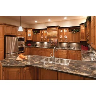 Faircrest Glazed Mocha Kitchen Cabinets