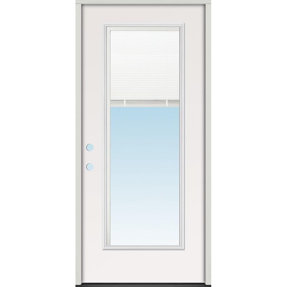 45320103 36 Full Lite Mini Blind Prehung Exterior Steel Door Unit  Left Hand