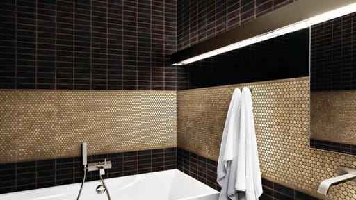 Wall Tile Bathroom Scene