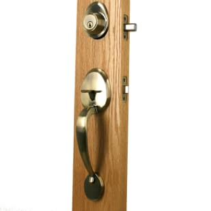 Newgard Entry Handle Set Antique Brass