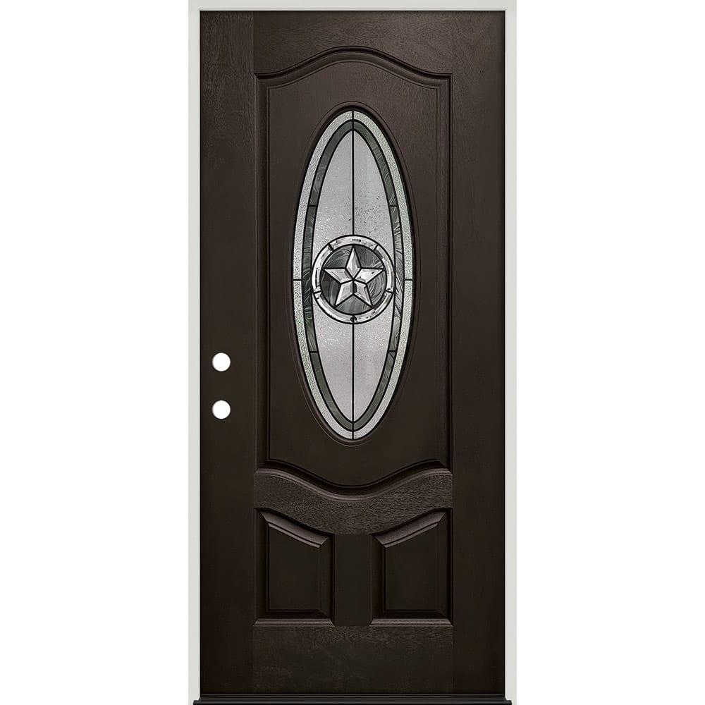 45320040 36 Prefinished  Prehung Fiberglass Exterior Door Unit  Right Hand