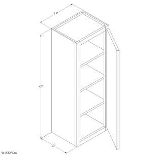 "Unfinished Oak 15""x42"" Wall Cabinet"