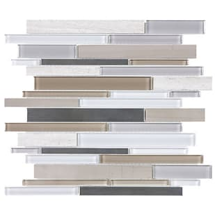 5536599 Warm Mica Linear Glass Stainless Mosaic Tile