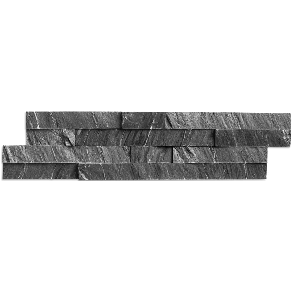 5536394 Kayla Marine Black 6x24 Stacked Stone