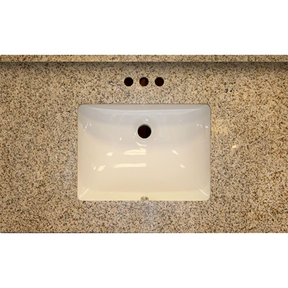 5020478 37x22 SD Golden Garnet Granite Vanity Top with Square Bowl