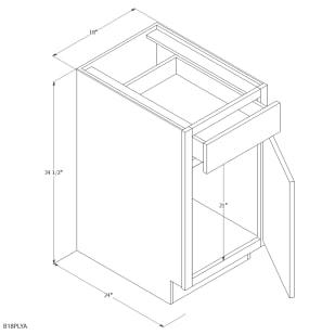 "Unfinished Oak 18"" Base Cabinet"