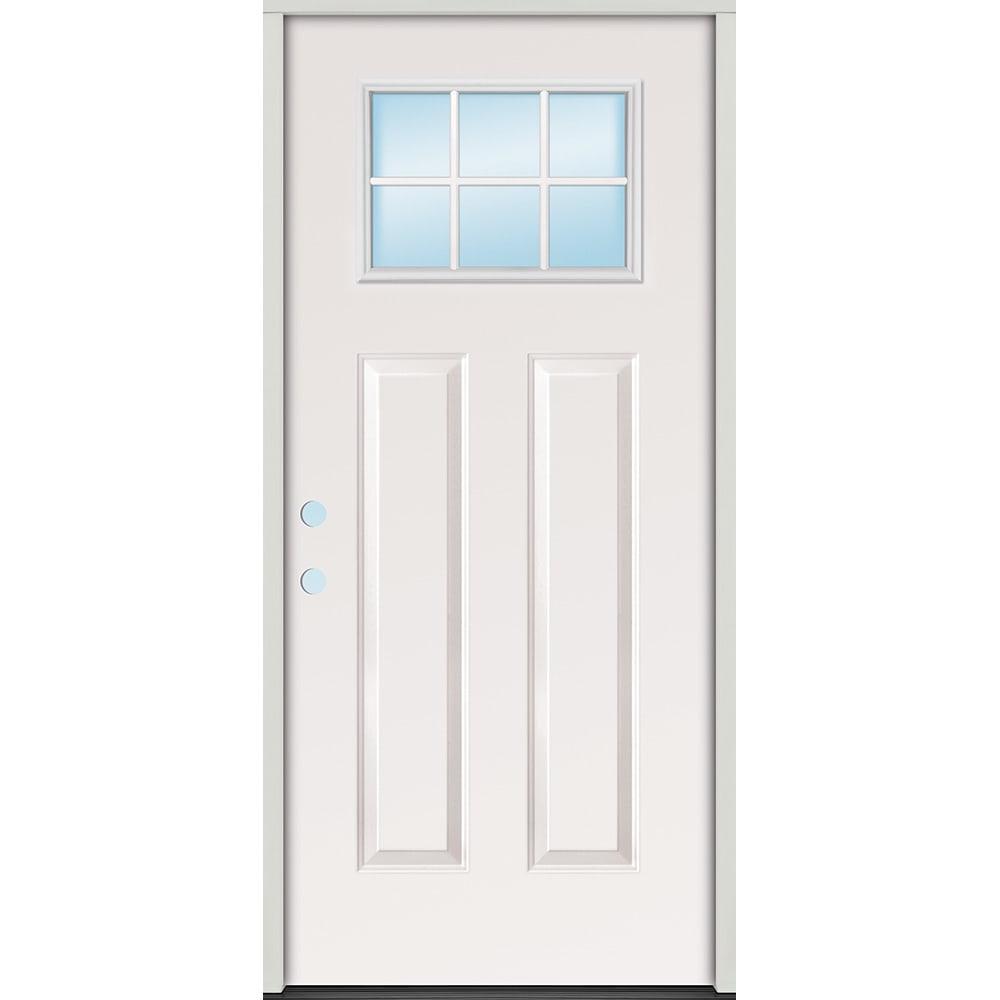 4532373 32 Steel 6 Lite Craftsman Door Unit  Right Hand