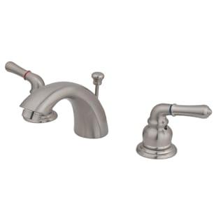 8020420 Dual Handle Mini Widespread Satin Nickel Bath Faucet w popup