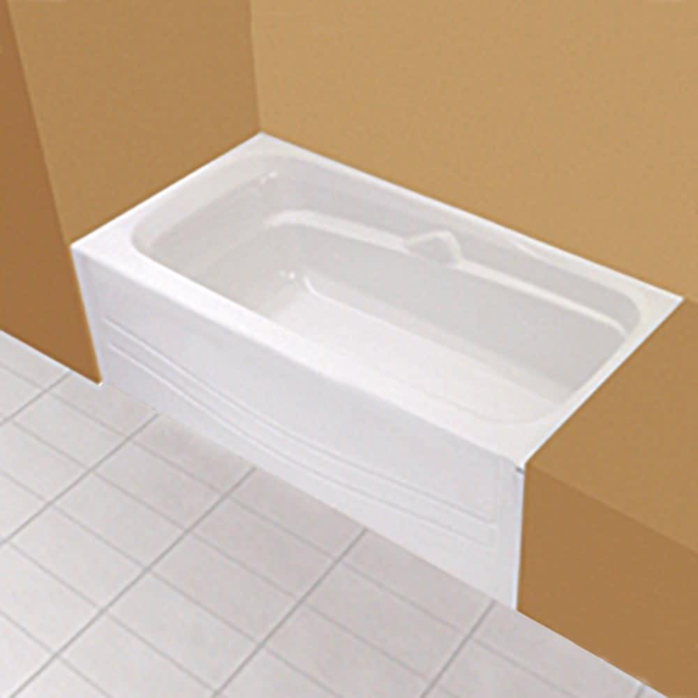 "Maax Avenue 60""x30"" White Soaker Tub with Left Drain"