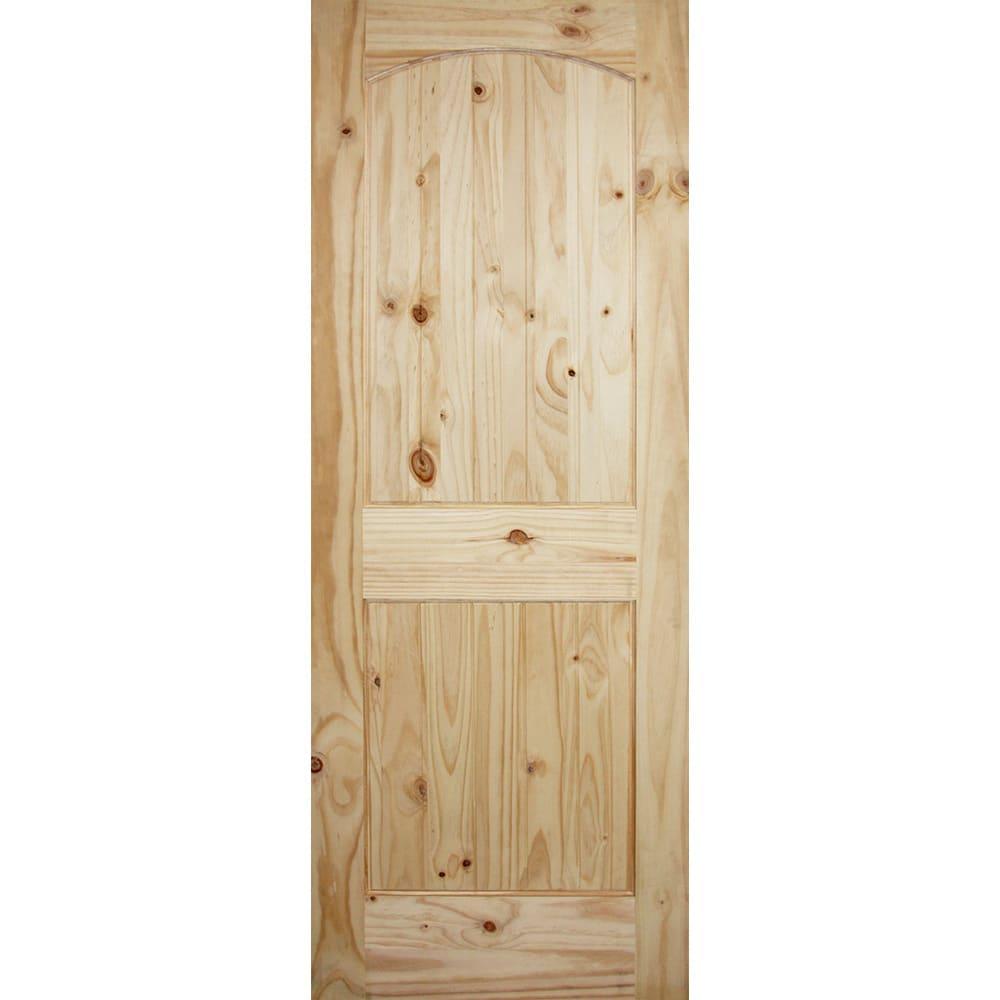 4520144 36 x 80 Arch Top 2 Panel Knotty Pine Interior Door Slab
