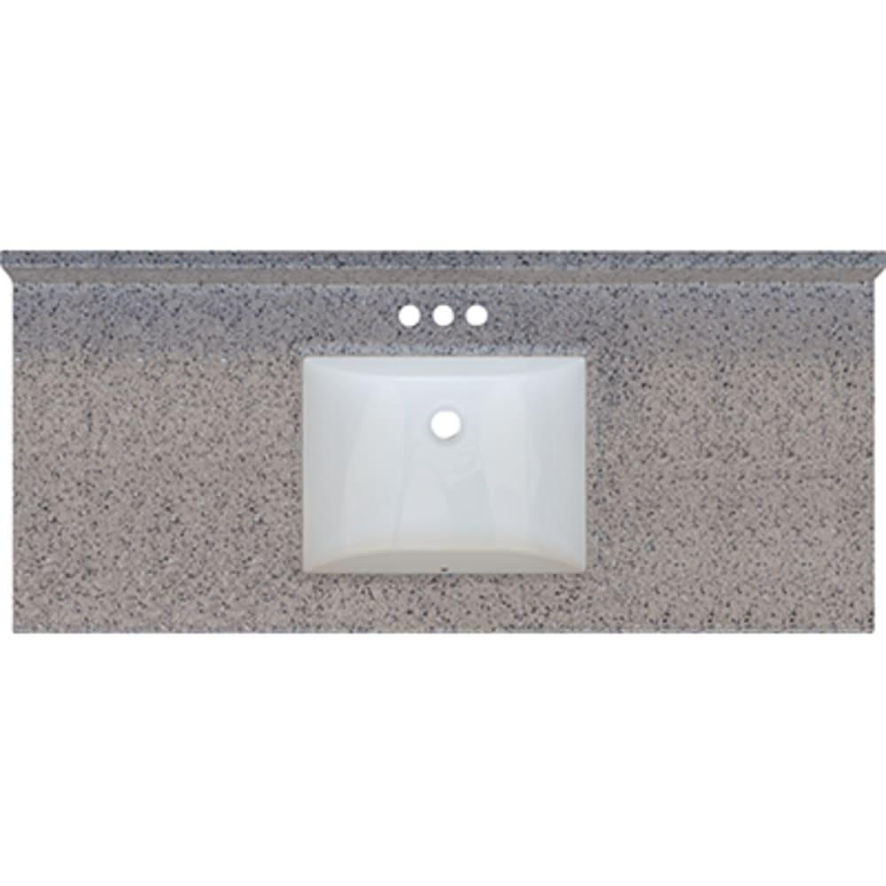 5020701 Rocky Trail 49x22 Engineered Stone Granite Finish Vanity Top