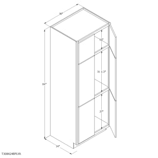 "Unfinished Oak 30"" Pantry Cabinet"