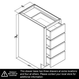 """Unfinished Oak 18"""" Drawer Base Cabinet"""