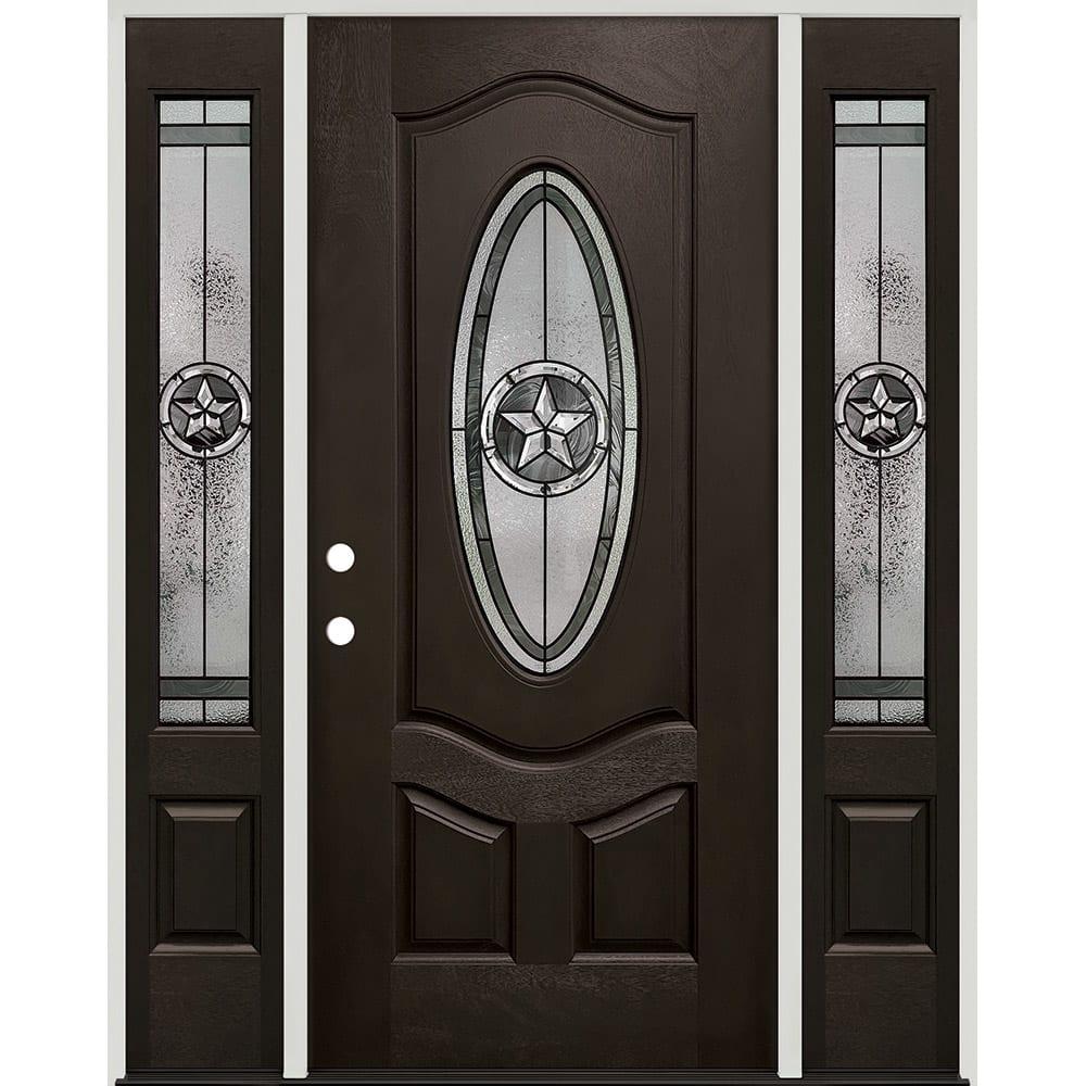 45320045 60 Prefinished  Prehung Fiberglass Exterior Door Unit  Right Hand