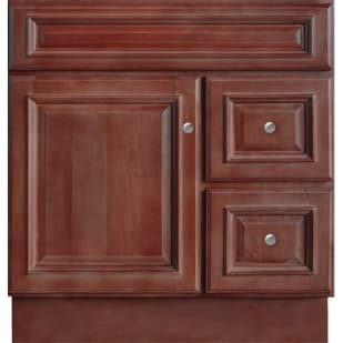 5024365 Savannah Merlot 30x21Two Drawer Single Door Vanity base
