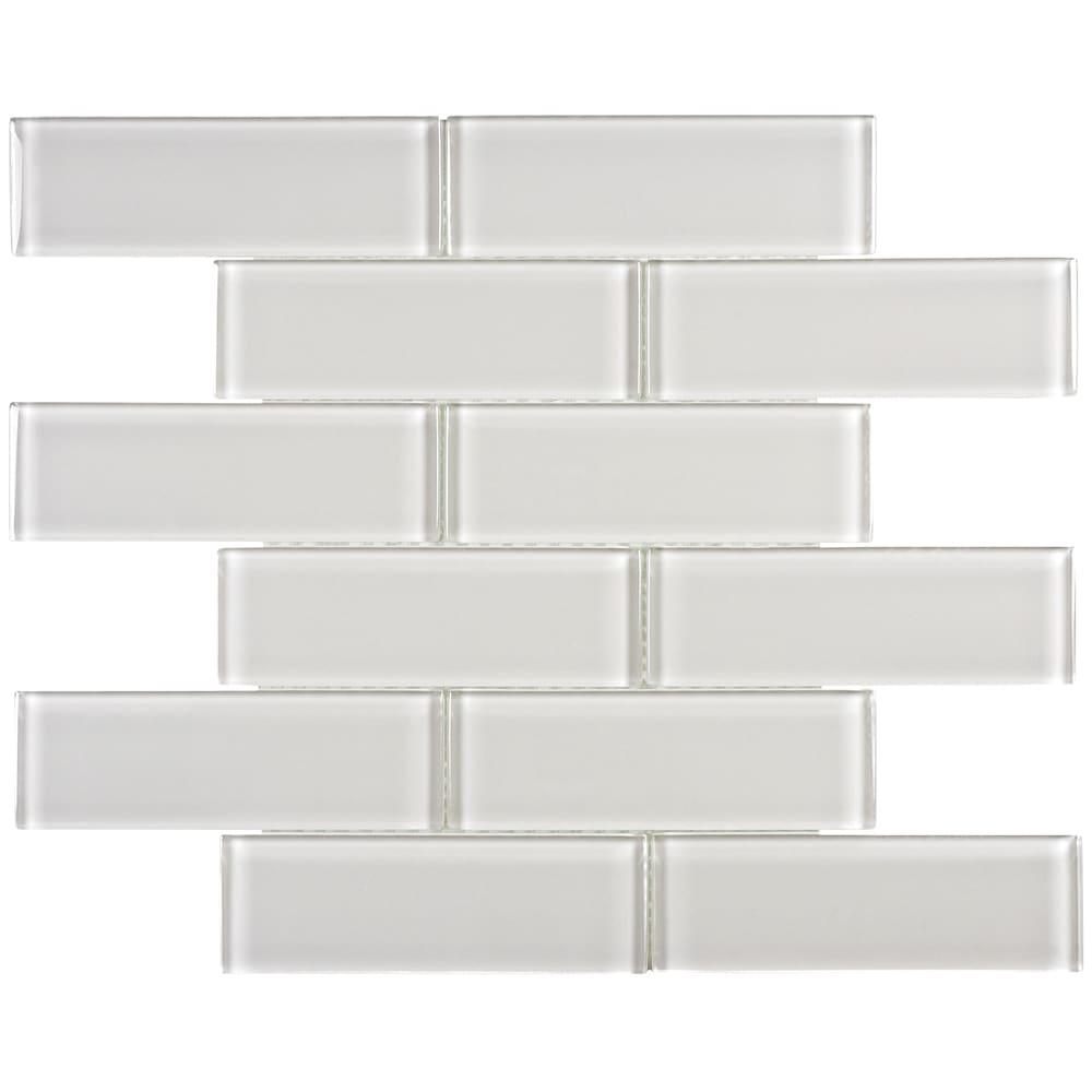 5536598 Arctic Fog 2x6 Subway Glass Mosaic