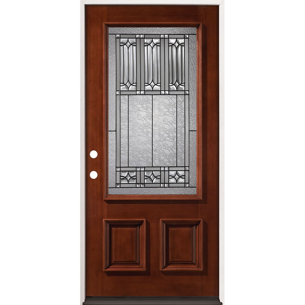 36 right hand prefinished mahogany exterior door sku - Prefinished mahogany interior doors ...