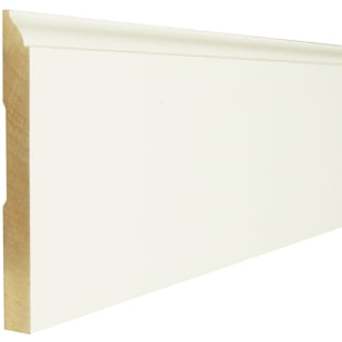 "5-1/4"" Primed Pine Speed Baseboard Moulding WM618"