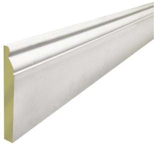 "5-1/4"" Primed MDF Speed Baseboard Moulding LWM218"