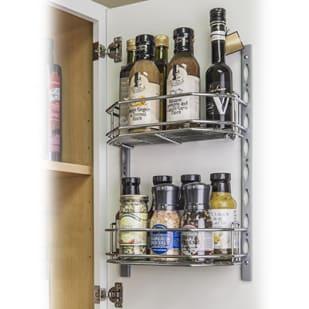 5049031 Door Mount Cabinet Storage Tray Kit w 6 deep shelves