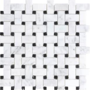 5536510 Bianco Polished Basketweave Mosaic Tile