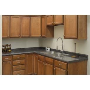 Wright's Burkett Pecan Shaker Kitchen Cabinets