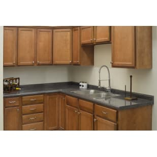 Wright's Burkett Pecan Shaker Kitchen Cabinets