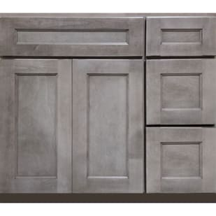 5025205 Heritage Smokey Gray 36 RH Vanity with Drawers
