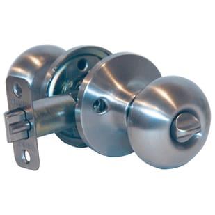 7528728 Privacy Lockset Mushroom Satin Nickel