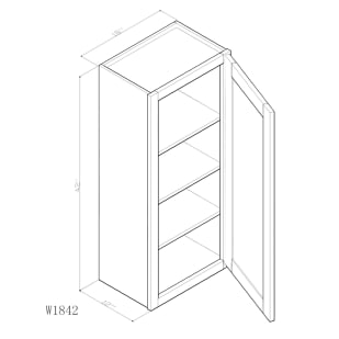 "GHI Arcadia White Shaker 18"" x 42"" Wall Cabinet Drawing"