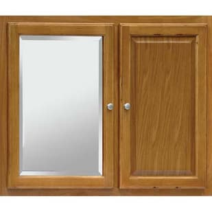 "Regal Oak 36"" x 27"" Two Door Medicine Cabinet with Mirror"
