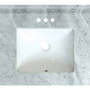 5020722 Carrara Marble 25 x 22 Natural Marble Vanity Top