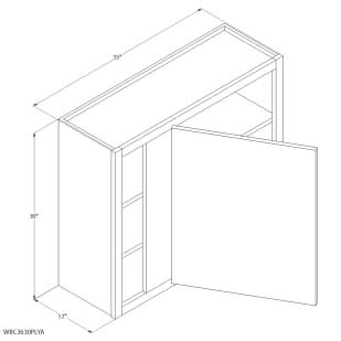 "Unfinished Oak 36""x30"" Blind Wall Cabinet"